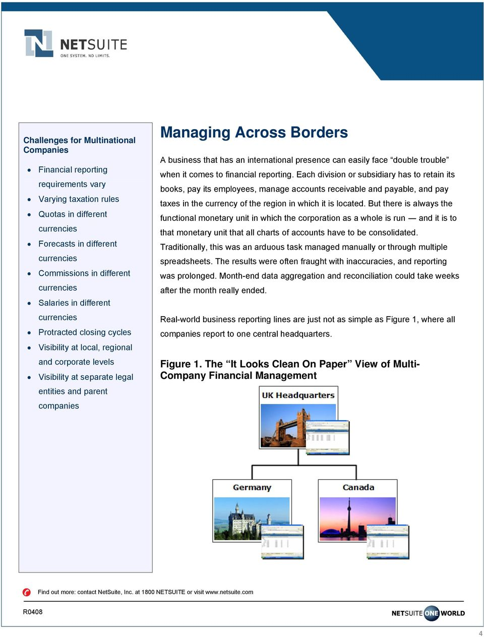 Borders A business that has an international presence can easily face double trouble when it comes to financial reporting.