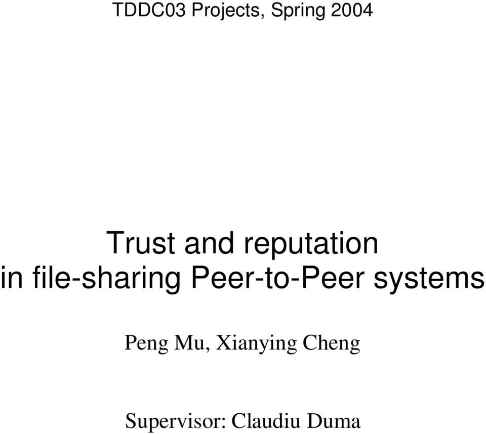 file-sharing Peer-to-Peer systems