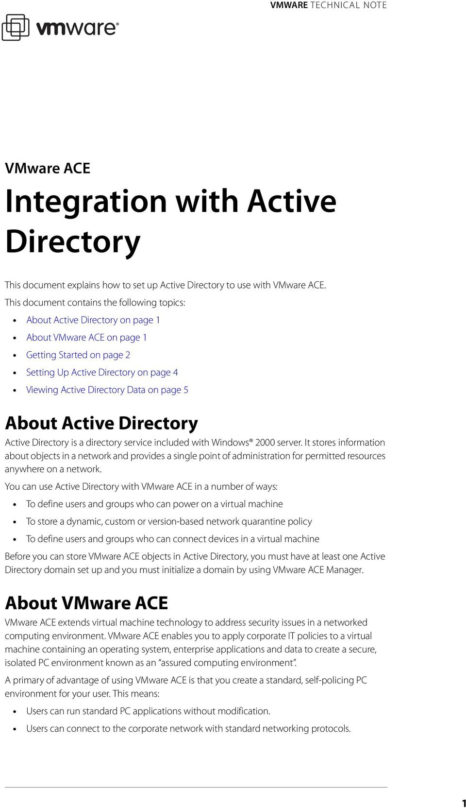 on page 5 About Active Directory Active Directory is a directory service included with Windows 2000 server.