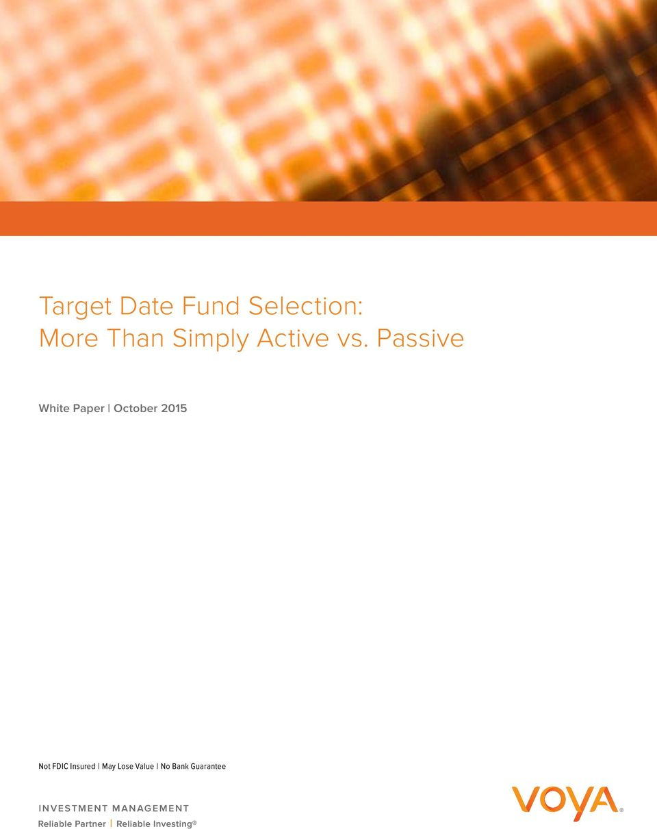 Passive White Paper October 2015 Not