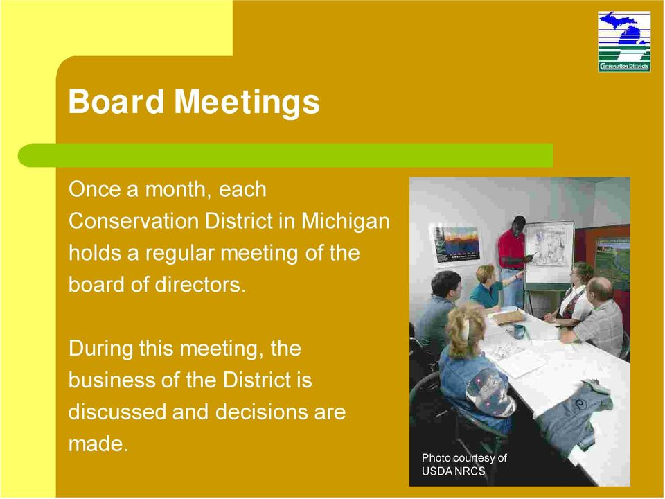 During this meeting, the business of the District is