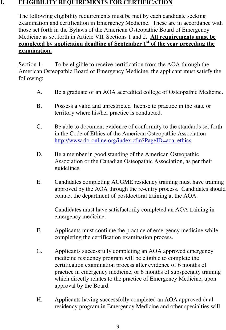 American Osteopathic Board Of Emergency Medicine Information To