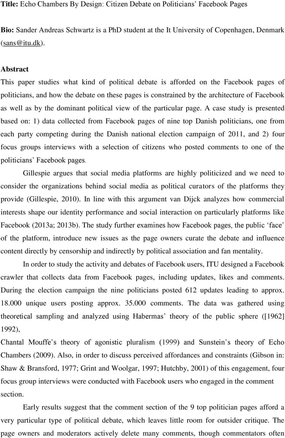 dominant political view of the particular page.