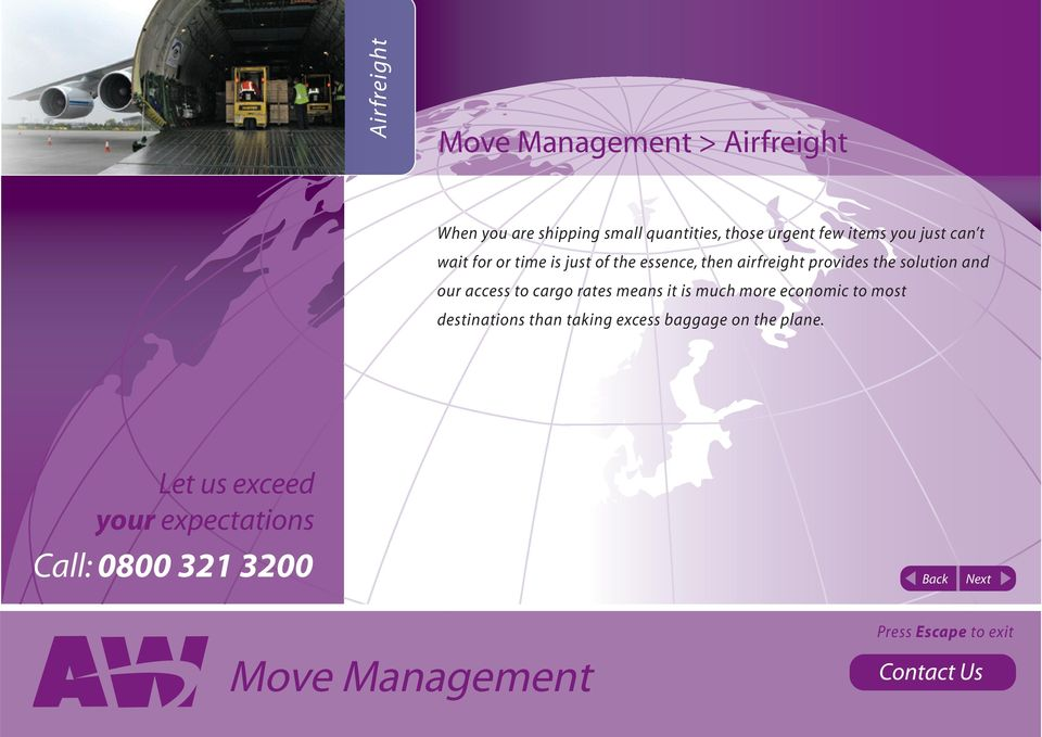 airfreight provides the solution and our access to cargo rates means it is