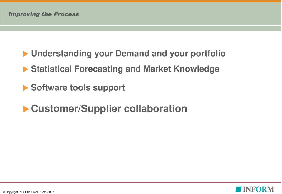 Forecasting and Market Knowledge Software