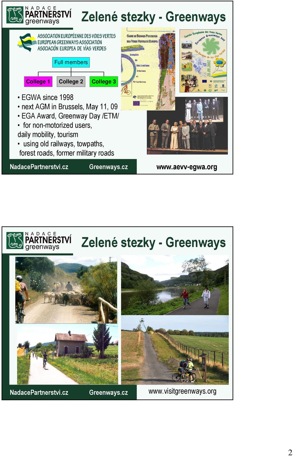 non-motorized users, daily mobility, tourism using old railways,