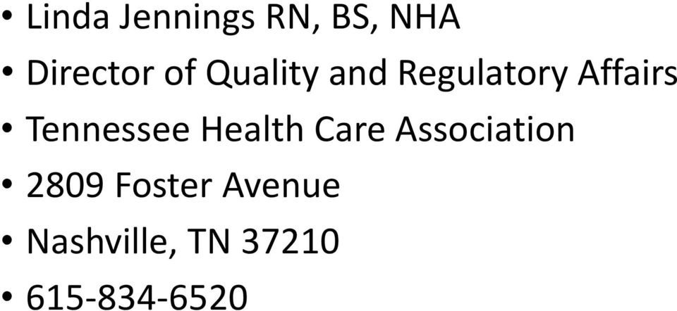 Tennessee Health Care Association 2809