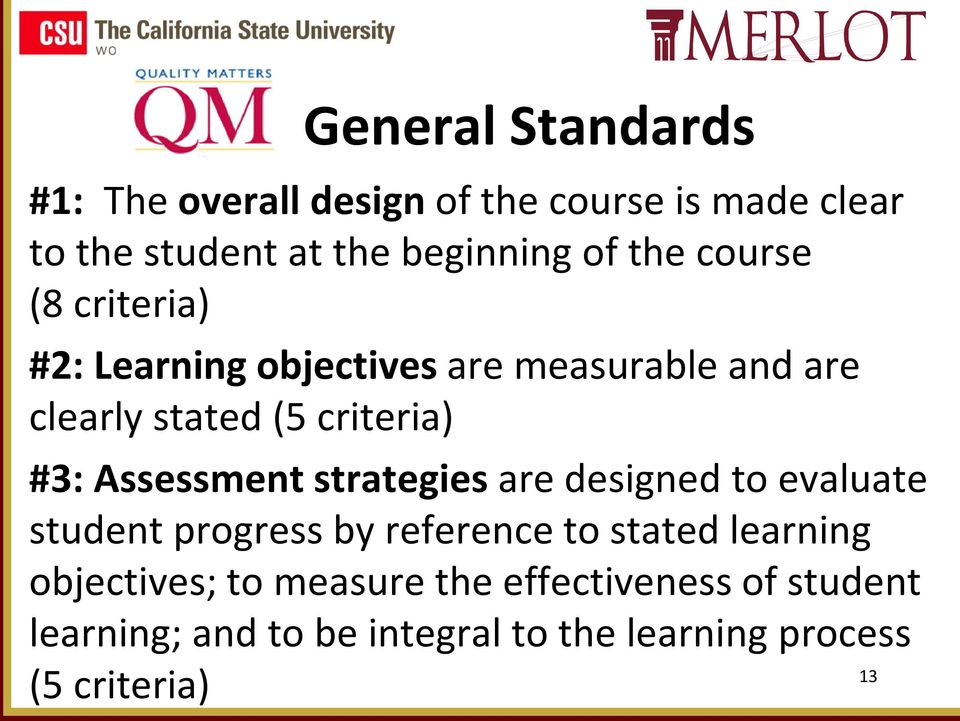 Assessment strategies are designed to evaluate student progress by reference to stated learning