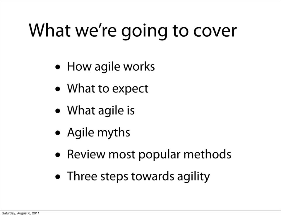 agile is Agile myths Review most