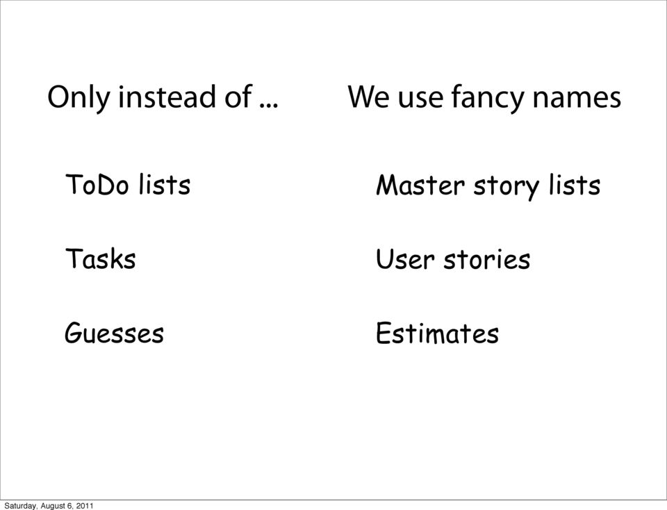 ToDo lists Master story