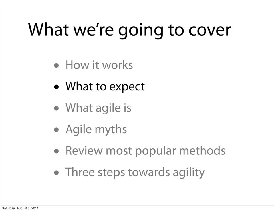is Agile myths Review most