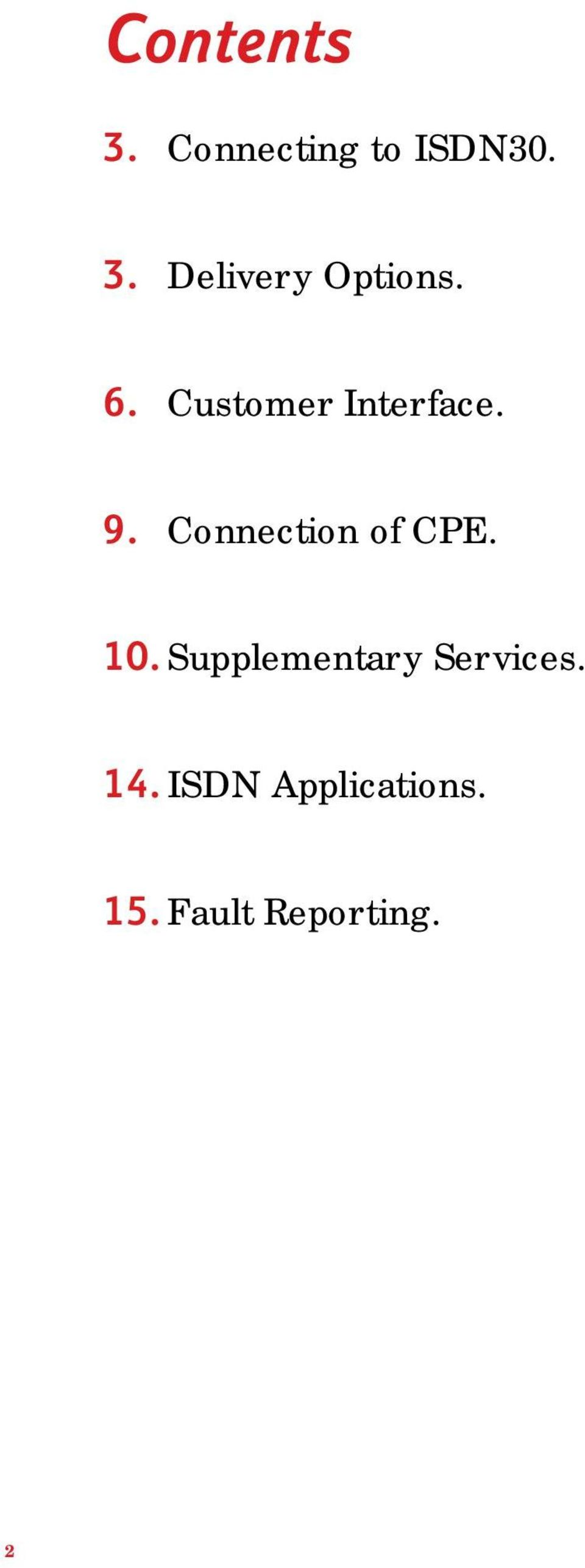 10. Supplementary Services. 14.