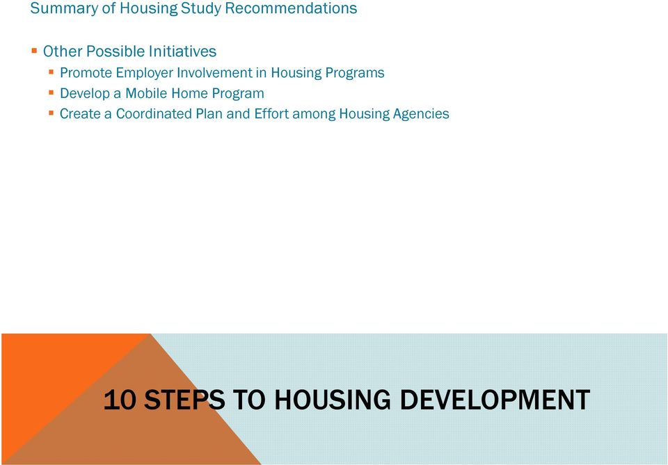 in Housing Programs Develop a Mobile Home Program