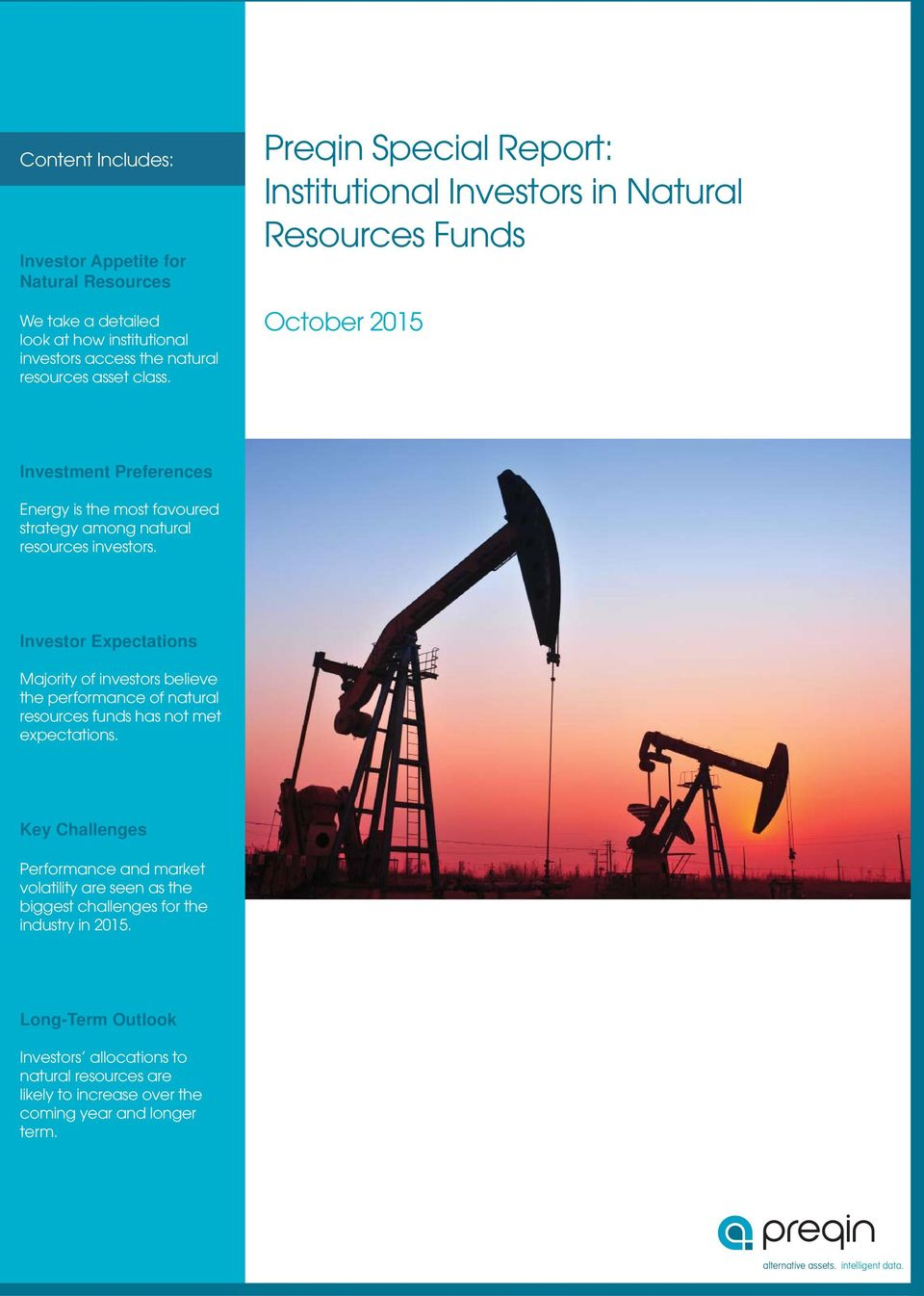 Investor Expectations Majority of investors believe the performance of natural resources funds has not met expectations.