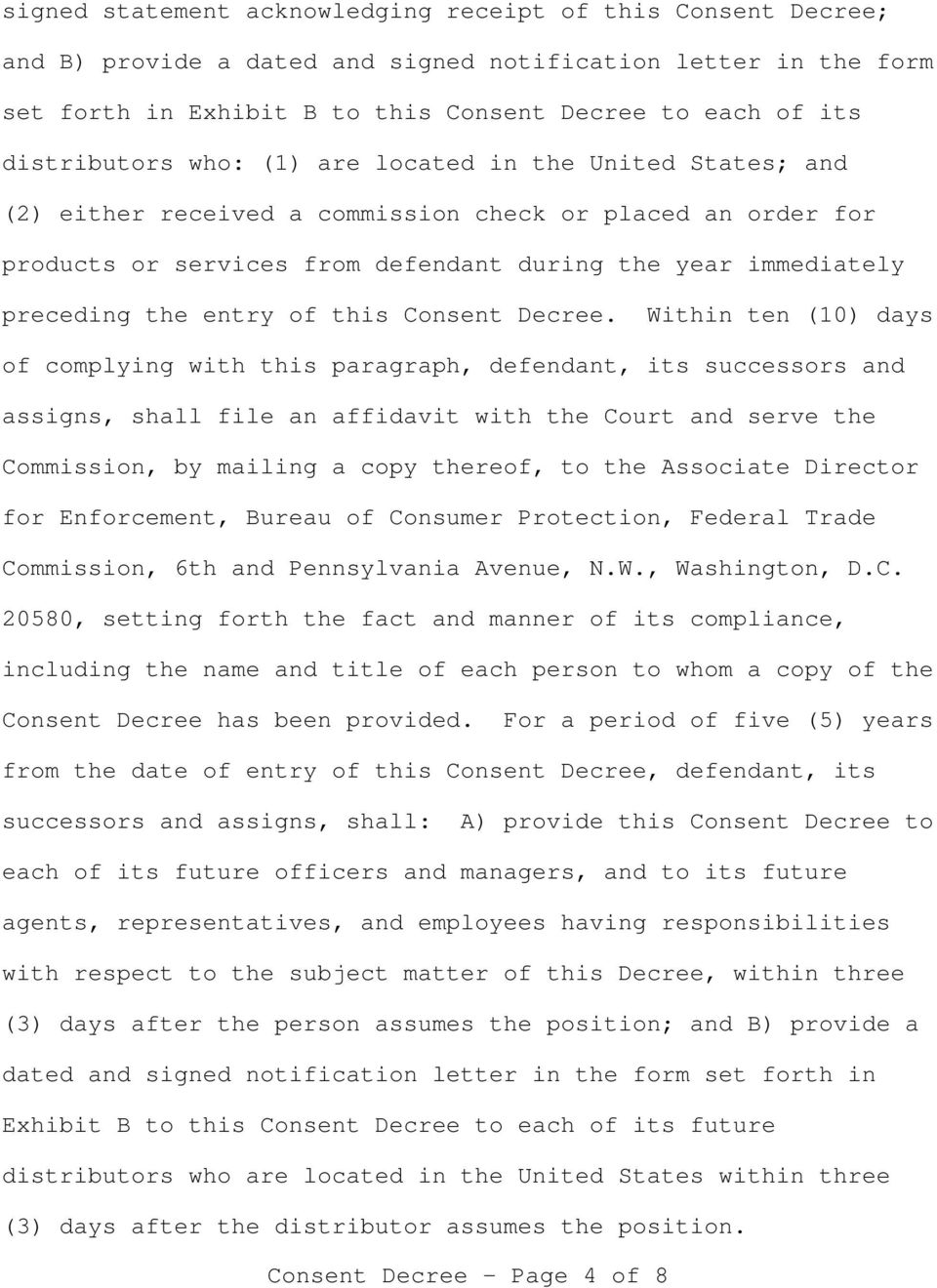 entry of this Consent Decree.