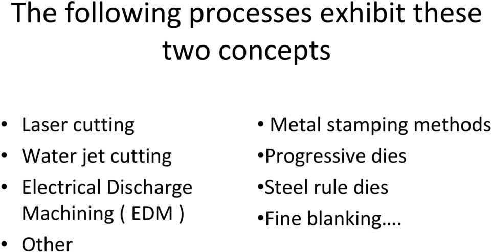 Electrical Discharge Machining ( EDM ) Other