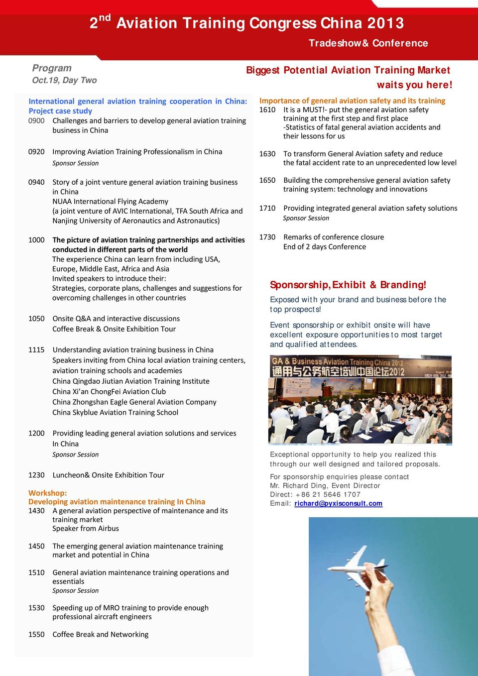 Aviation Training Market waits you here! Importance of general aviation safety and its training 1610 It is a MUST!
