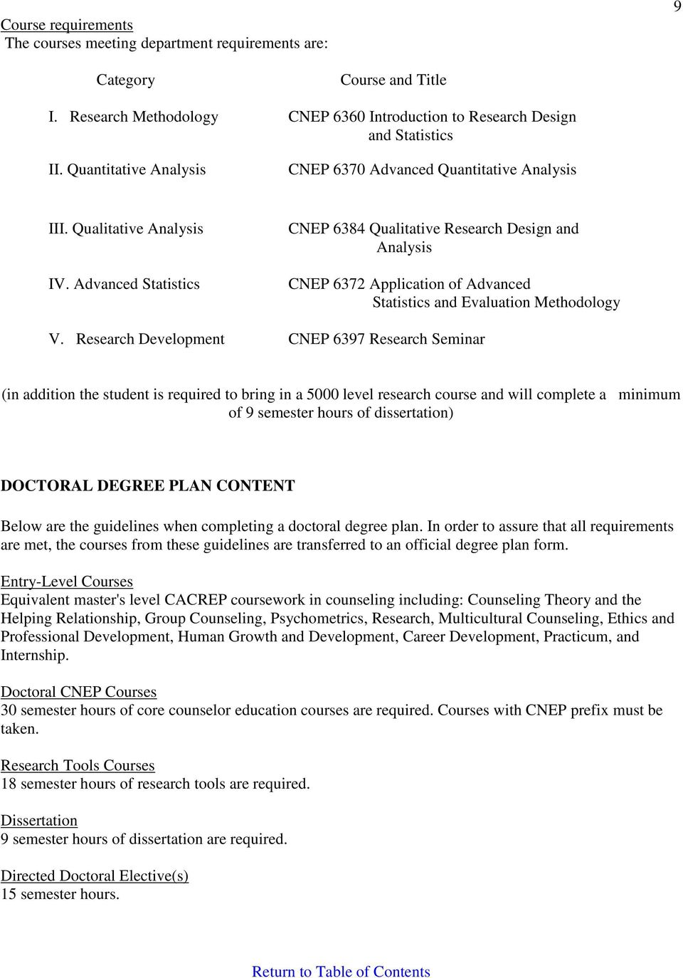 Advanced Statistics CNEP 6384 Qualitative Research Design and Analysis CNEP 6372 Application of Advanced Statistics and Evaluation Methodology V.