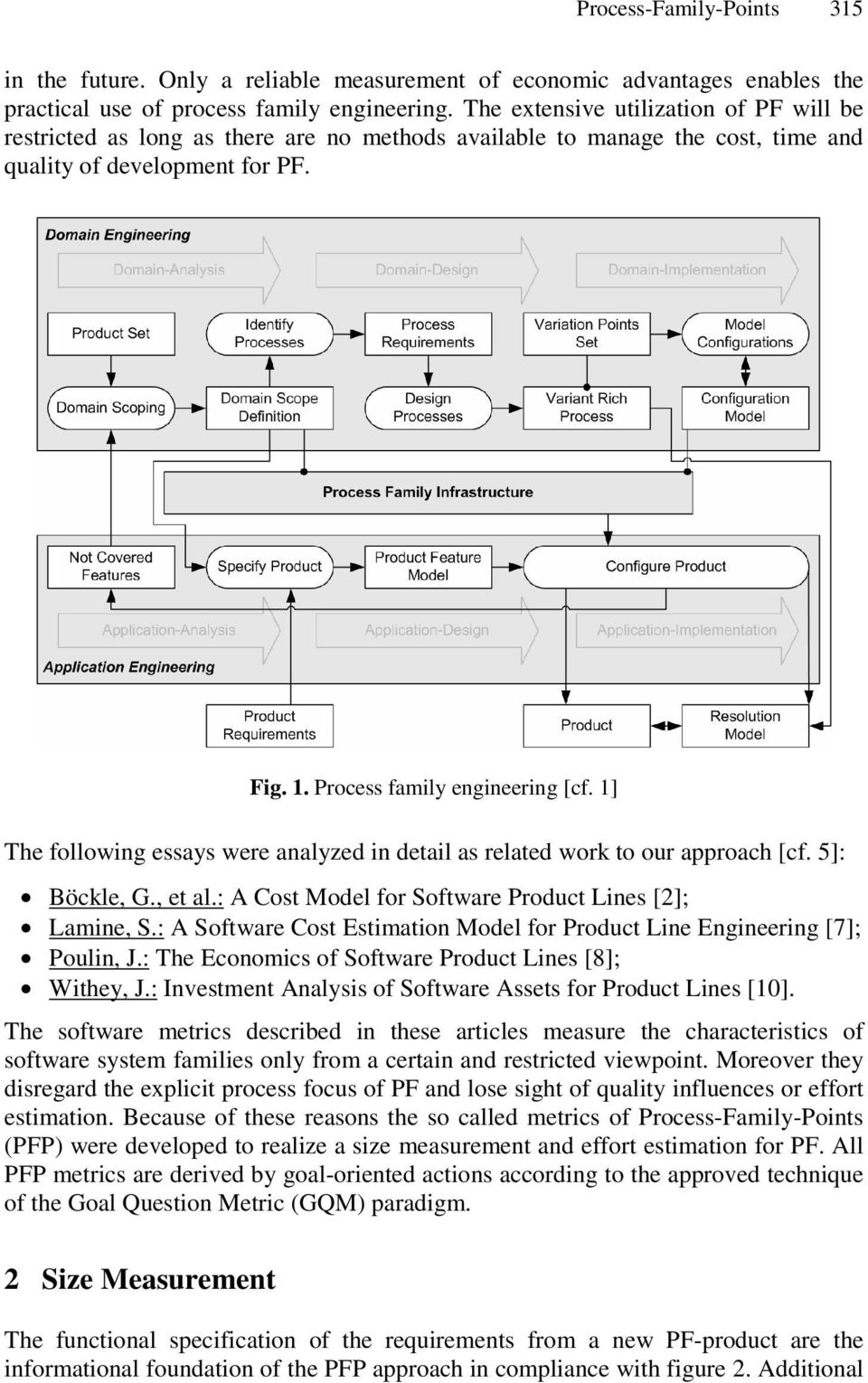 1] The following essays were analyzed in detail as related work to our approach [cf. 5]: Böckle, G., et al.: A Cost Model for Software Product Lines [2]; Lamine, S.