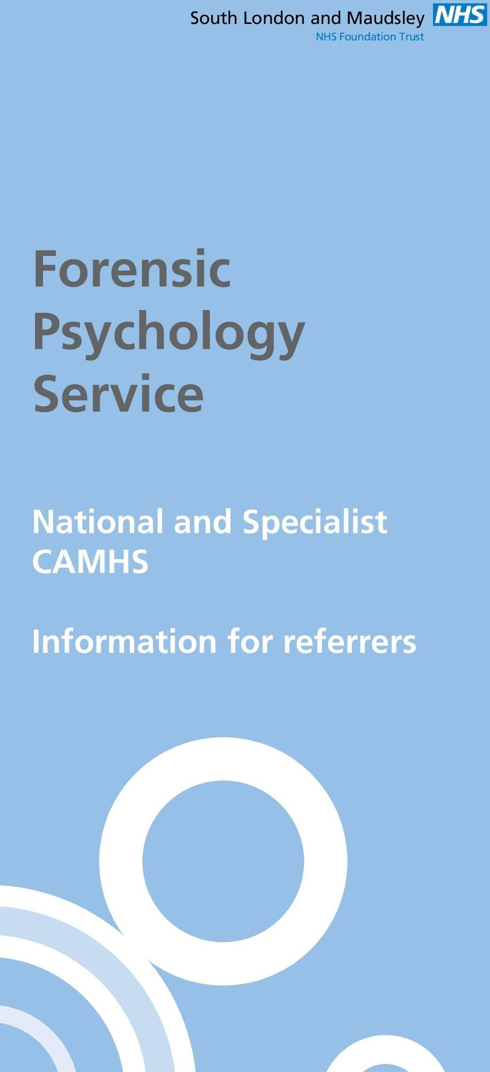 Psychology Service National and