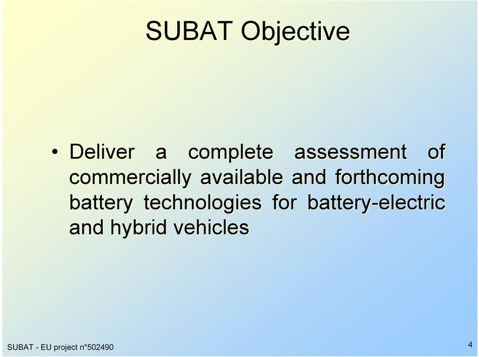 forthcoming battery technologies for