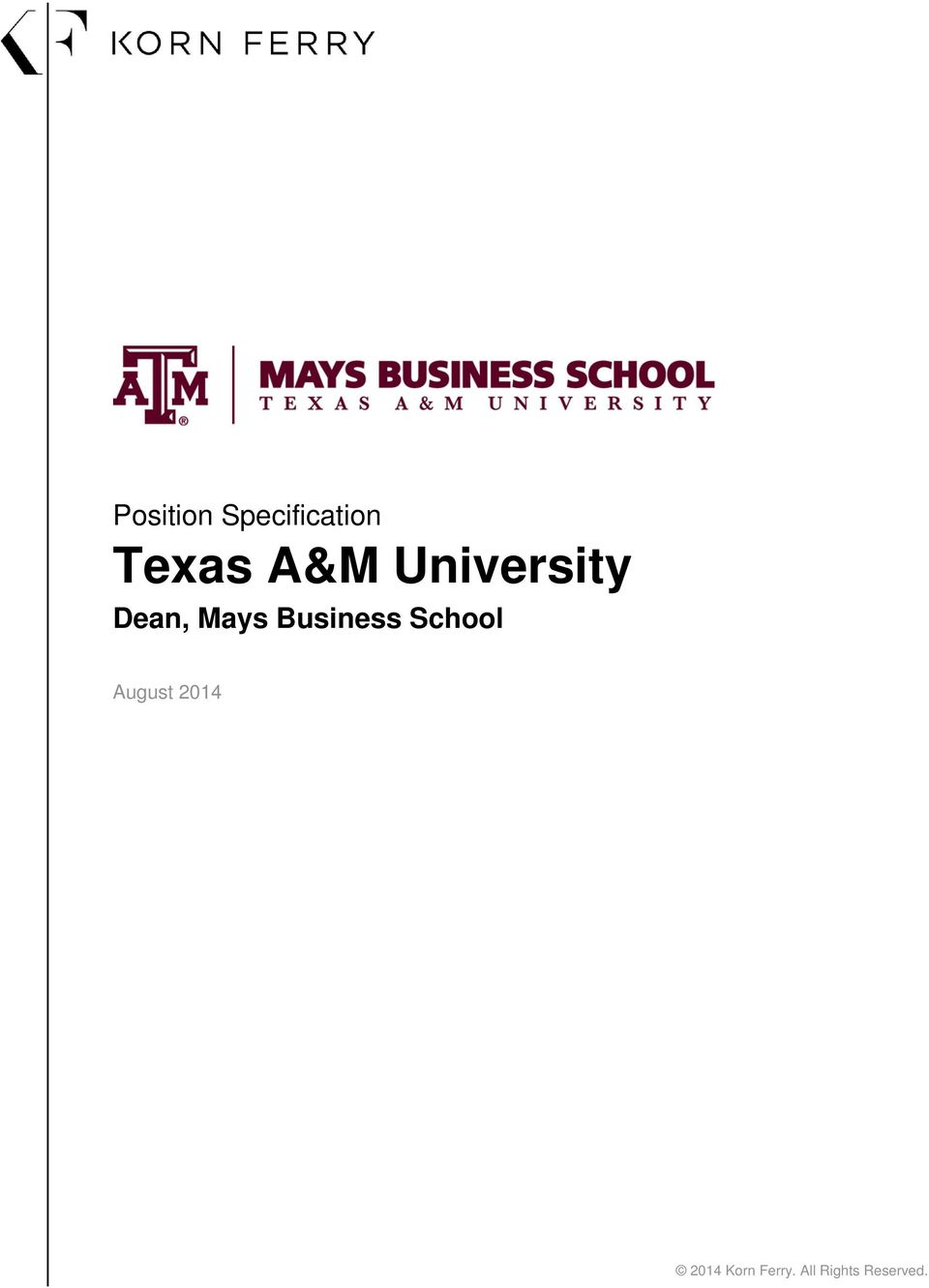 Business School August 2014
