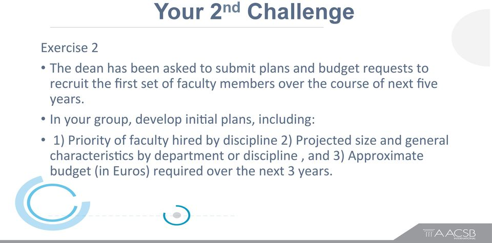 In your group, develop ini,al plans, including: 1) Priority of faculty hired by discipline 2)