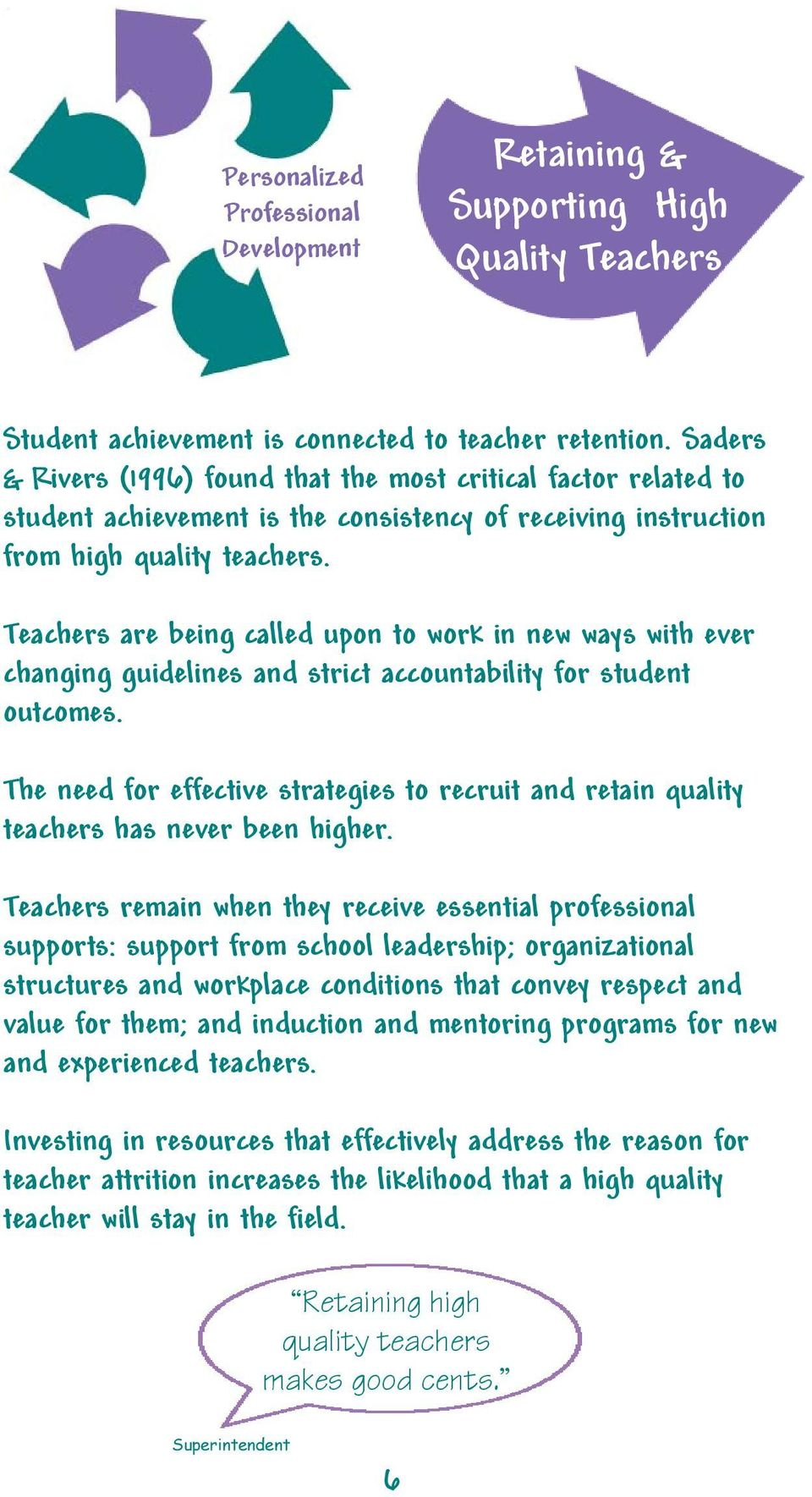 Teachers are being called upon to work in new ways with ever changing guidelines and strict accountability for student outcomes.