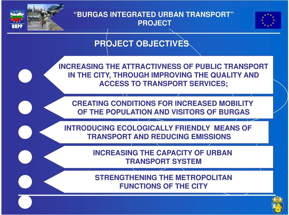 OF THE POPULATION AND VISITORS OF BURGAS INTRODUCING ECOLOGICALLY FRIENDLY MEANS OF TRANSPORT AND REDUCING