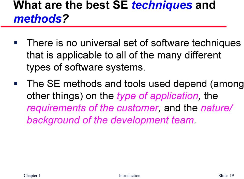 different types of software systems.