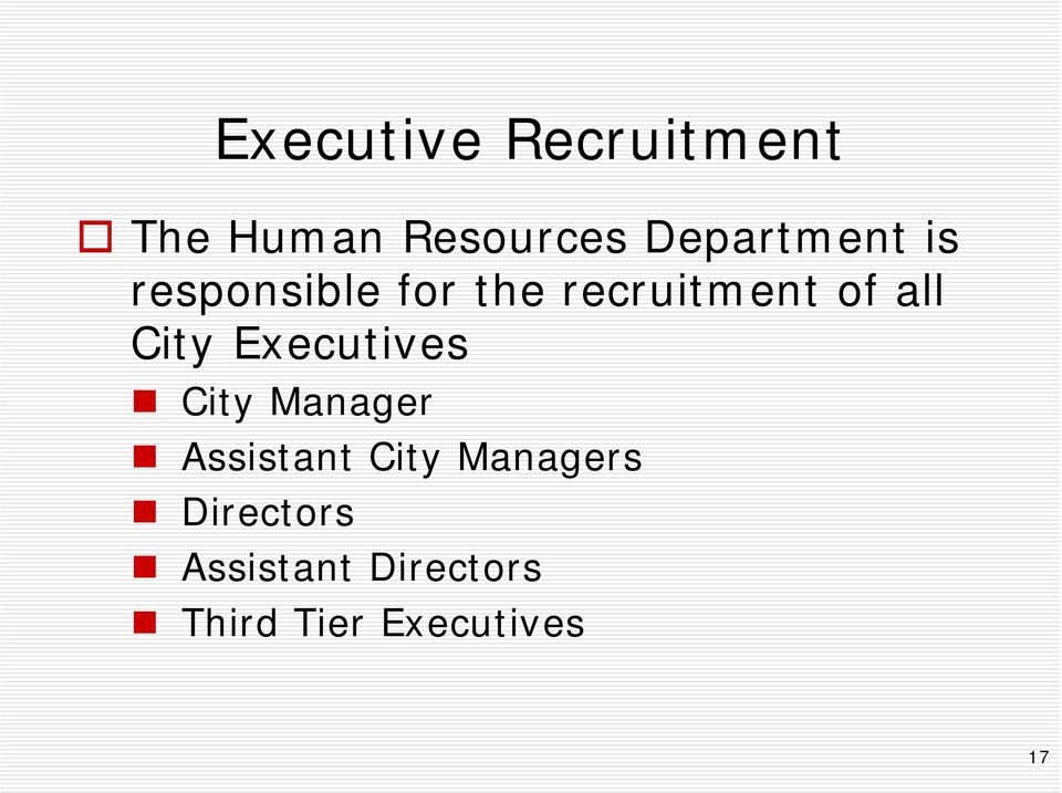 all City Executives City Manager Assistant City