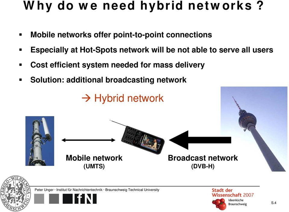 network will be not able to serve all users Cost efficient system needed