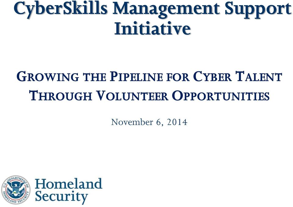 CYBERTALENT THROUGH VOLUNTEER