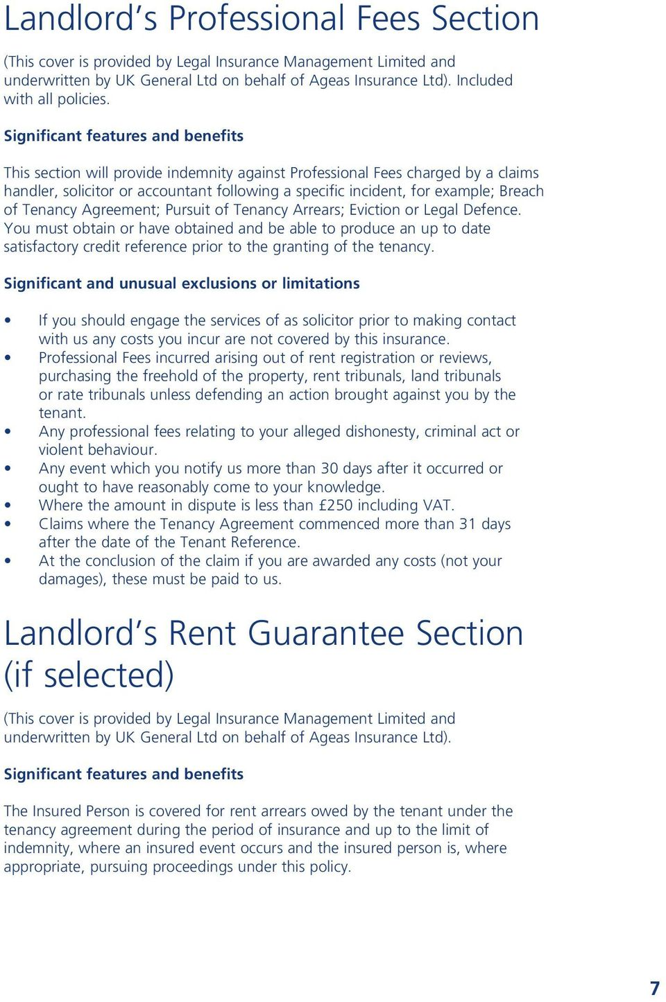 of Tenancy Agreement; Pursuit of Tenancy Arrears; Eviction or Legal Defence.