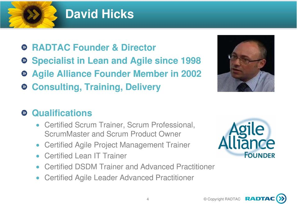 Professional, ScrumMaster and Scrum Product Owner Certified Agile Project Management Trainer