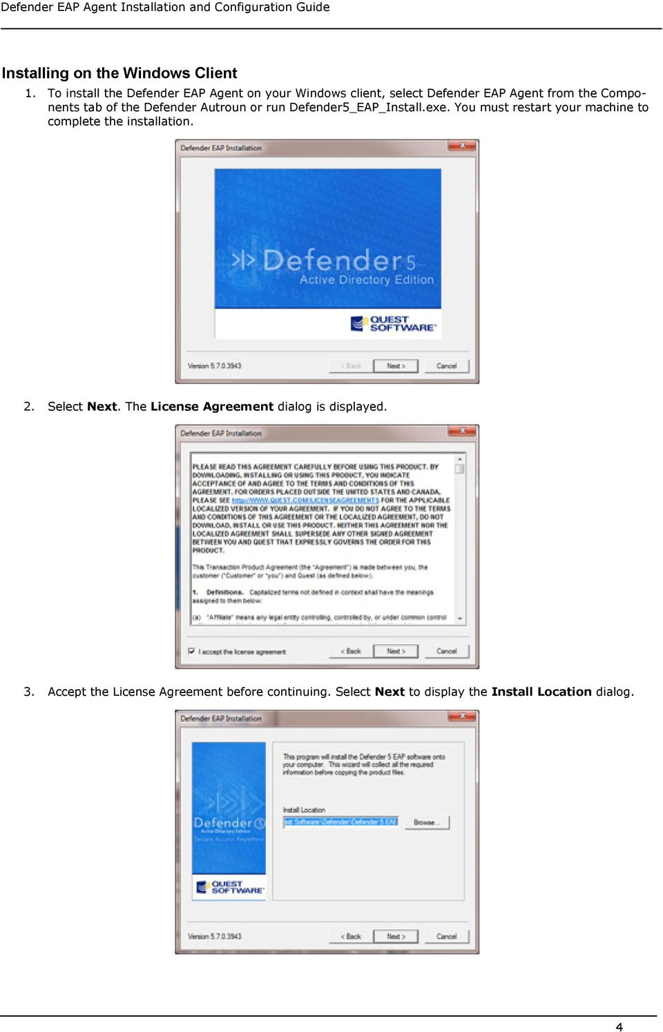 tab of the Defender Autroun or run Defender5_EAP_Install.exe.
