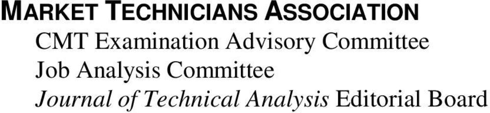 Committee Job Analysis Committee