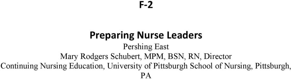 Director Continuing Nursing Education,
