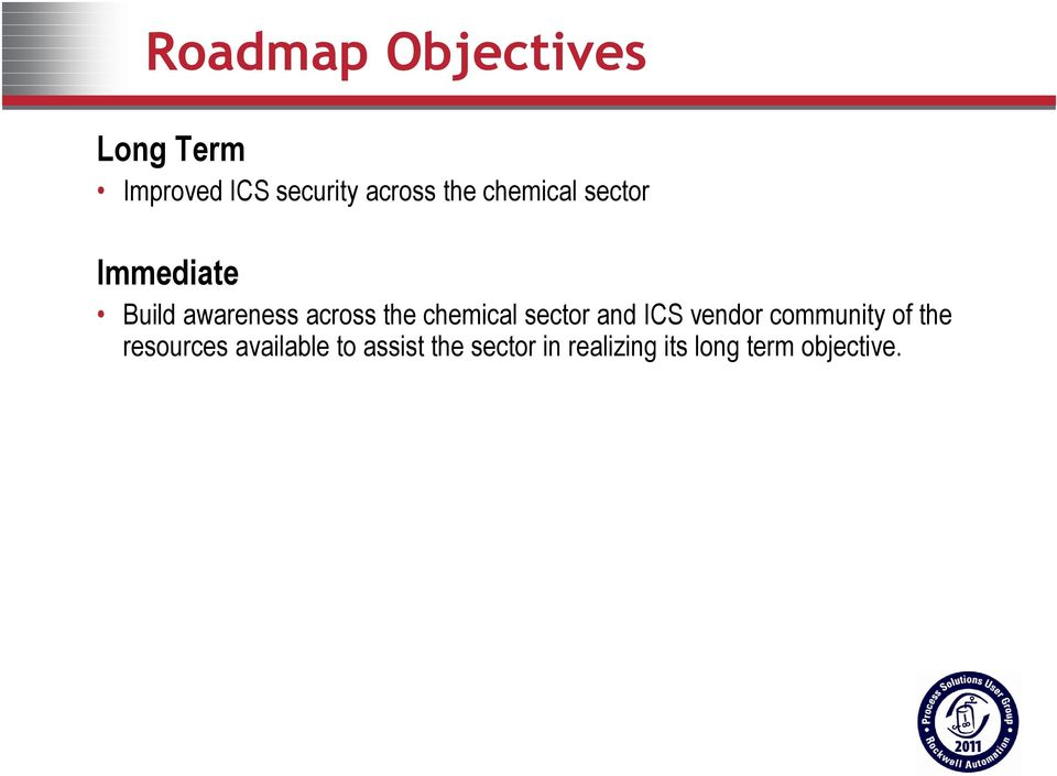 chemical sector and ICS vendor community of the resources
