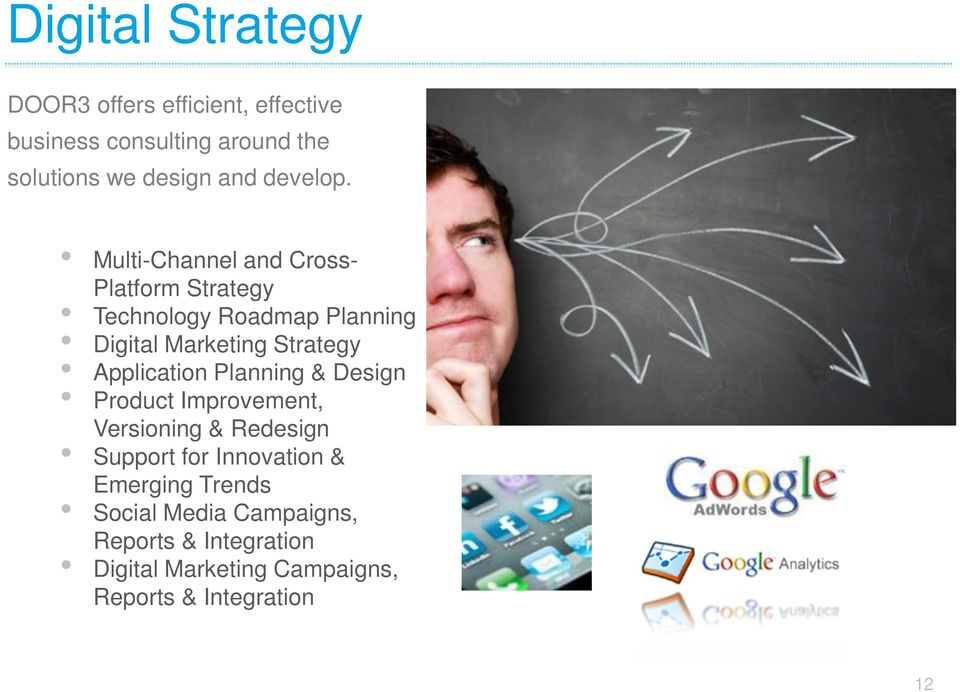 Multi-Channel and Cross- Platform Strategy Technology Roadmap Planning Digital Marketing Strategy