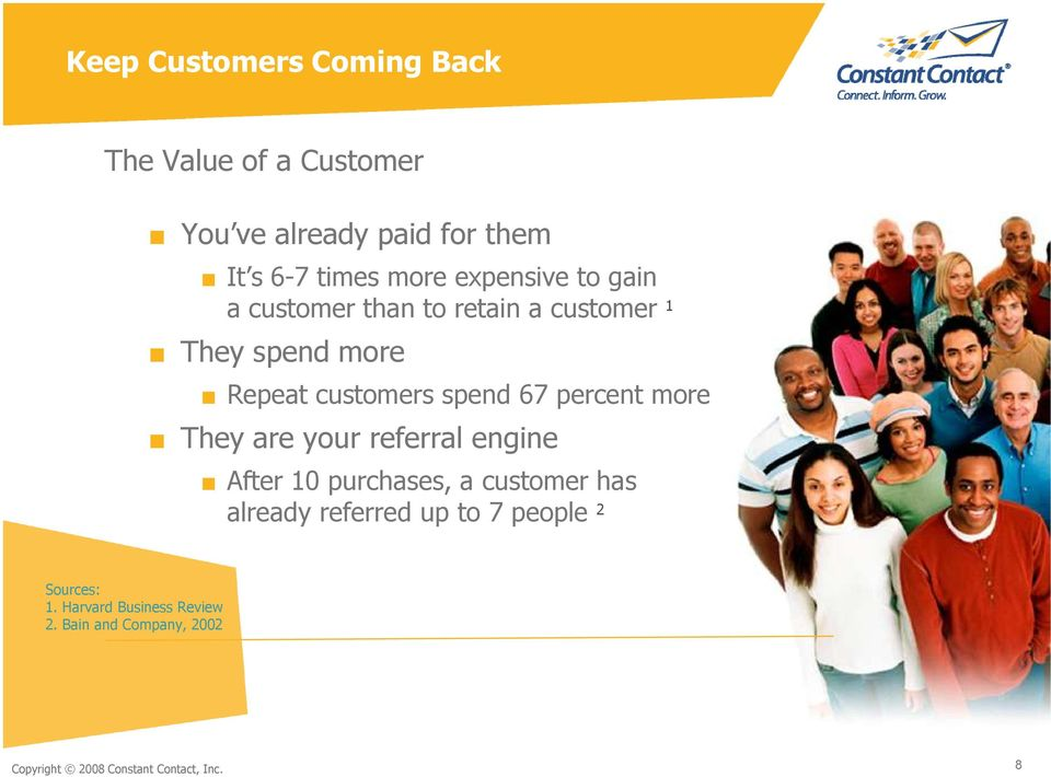 percent more 2 They are your referral engine After 10 purchases, a customer has already referred up to