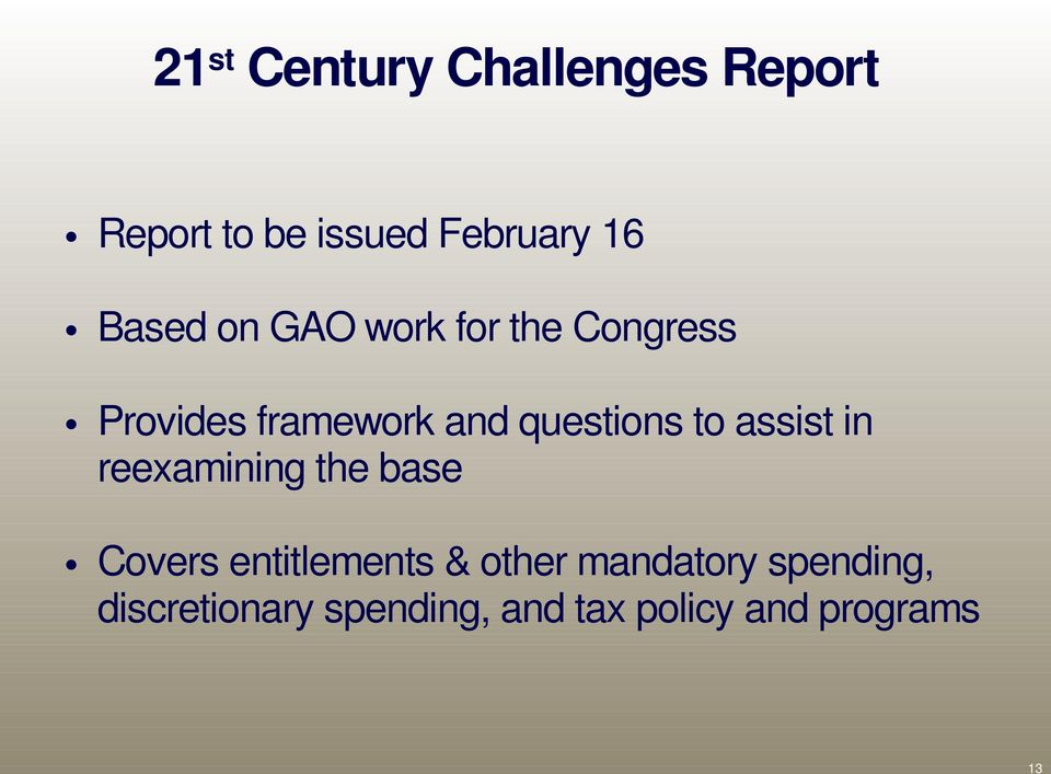 questions to assist in reexamining the base Covers entitlements &