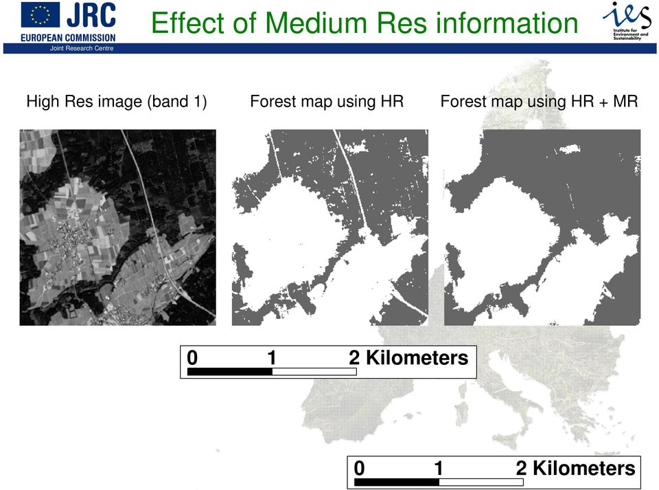 map using HR 1 Forest map using