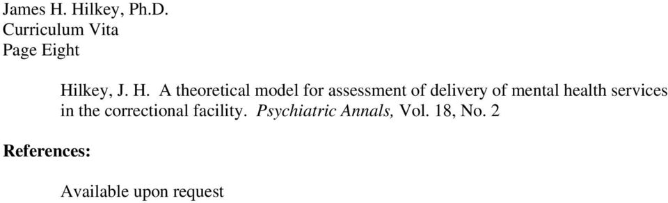A theoretical model for assessment of delivery of