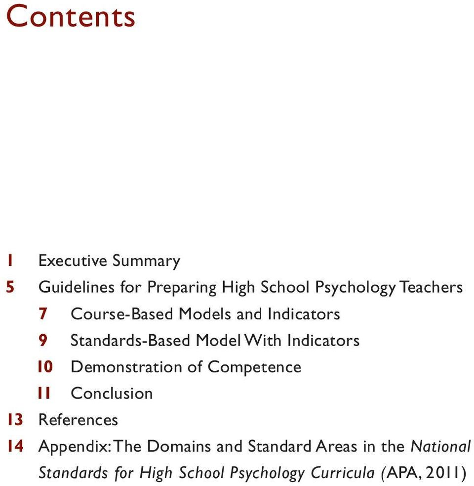 10 Demonstration of Competence 11 Conclusion 13 References 14 Appendix: The Domains