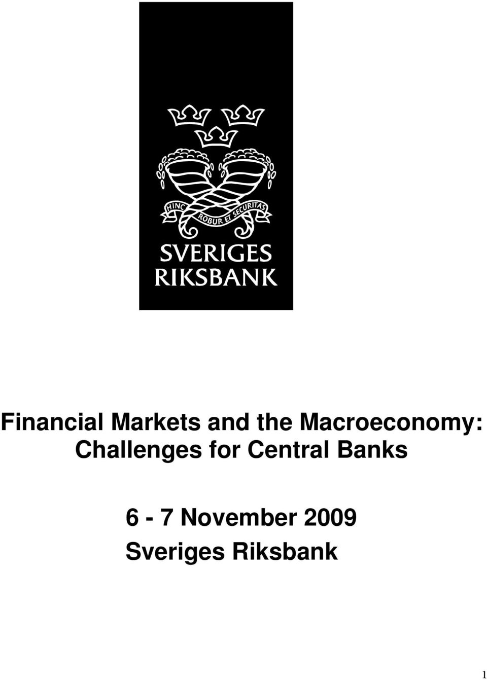 for Central Banks 6-7