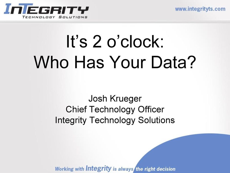 Josh Krueger Chief