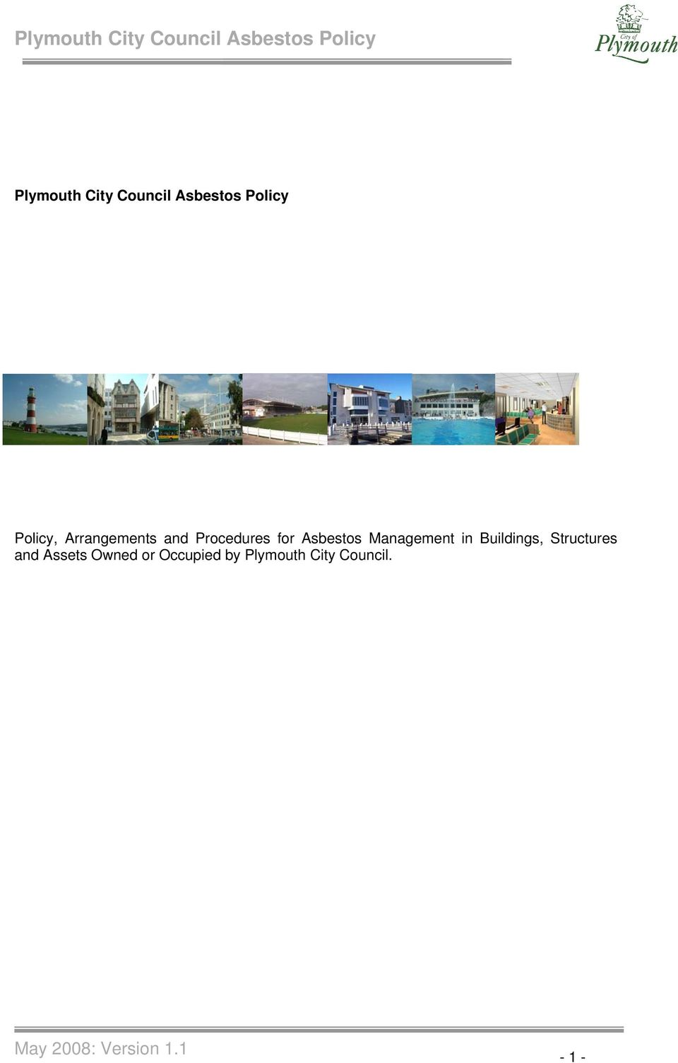Management in Buildings, Structures and Assets