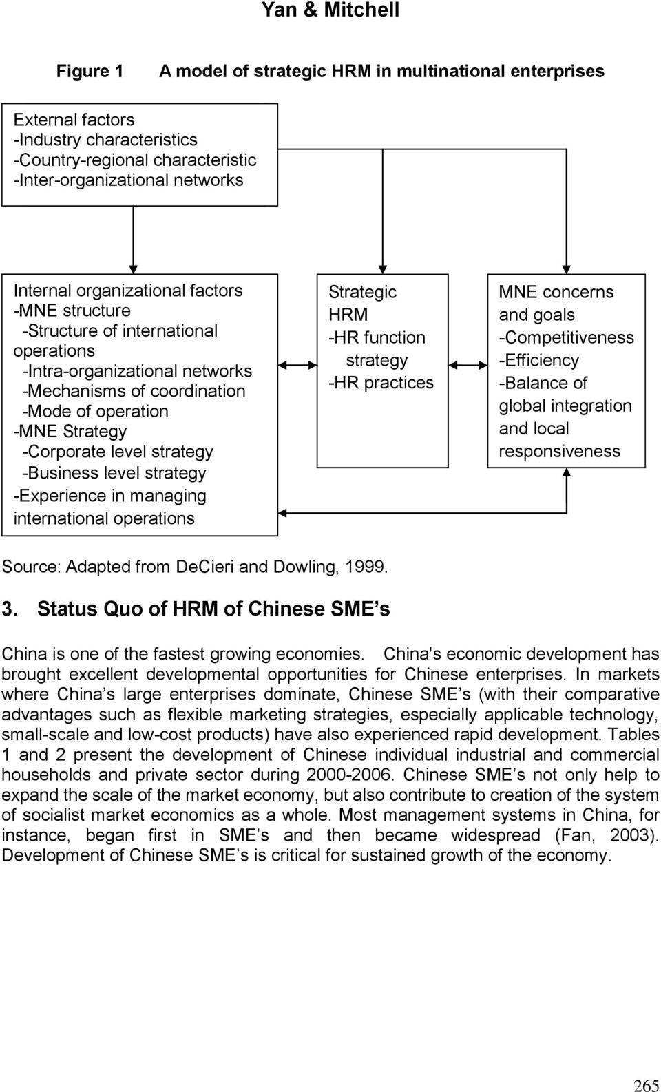 Strategy -Corporate level strategy -Business level strategy -Experience in managing international operations -Headquarters international Source: orientation Adapted from DeCieri and Dowling, 1999.