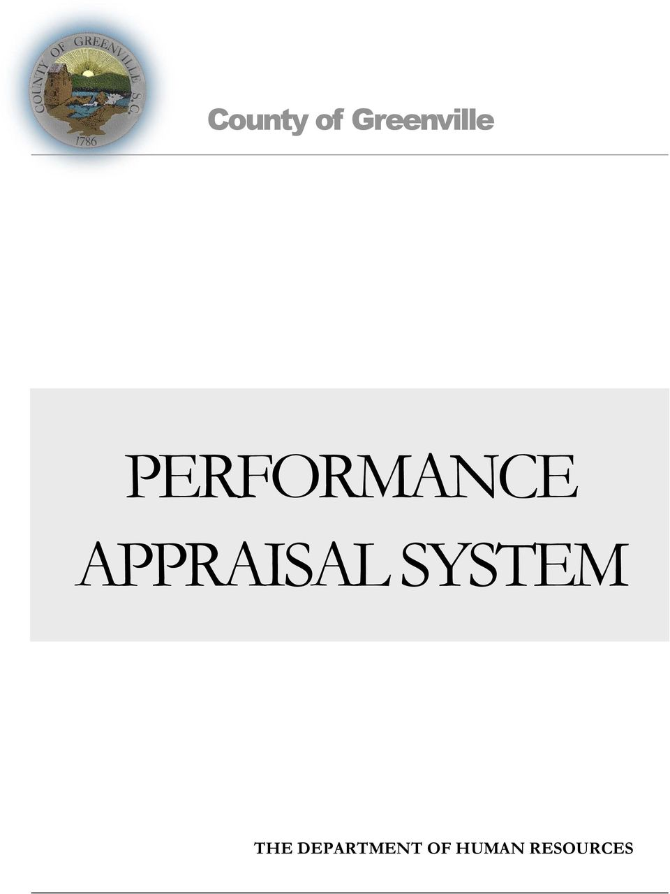 APPRAISAL SYSTEM THE